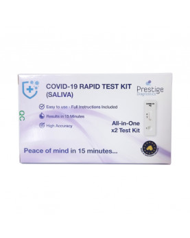 Rapid antigen test with saliva sample Prestige Diagnostics box 2 tests (UK)